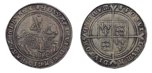 Edward VI, Halfcrown, 15.53g.,