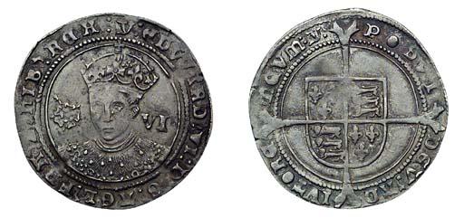 Edward VI, Sixpence, 3.02g., t