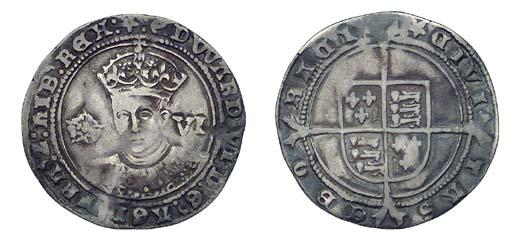 Edward VI, Sixpence, 2.92g., t