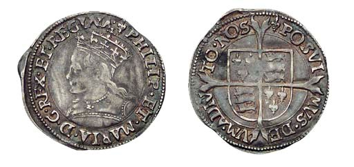 Philip and Mary, Groat, 2.03g.