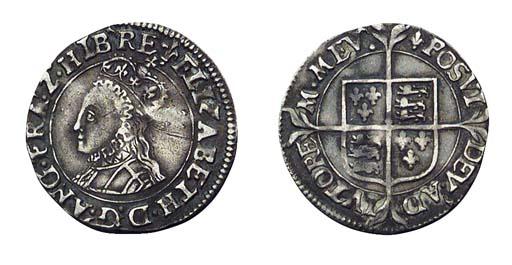 Elizabeth I, Halfgroat, 1.02g.