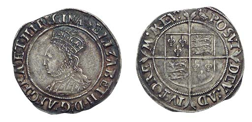 Elizabeth I, Shilling, second