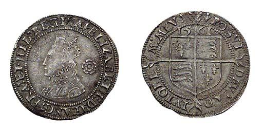 Elizabeth I, Threepence, third