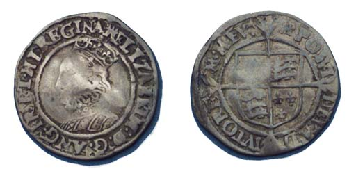 Elizabeth I, Halfgroat, third