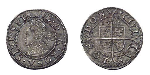 Elizabeth I, Threehalfpence, t