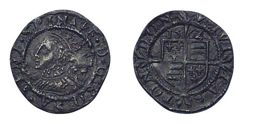 Elizabeth I, Threefarthings, t