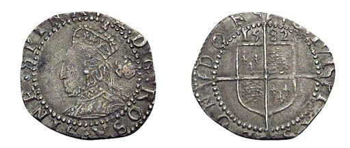 Elizabeth I, Threehalfpence, f
