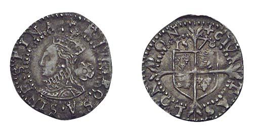 Elizabeth I, Threefarthings, f