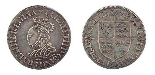 Elizabeth I, Groat, milled coi