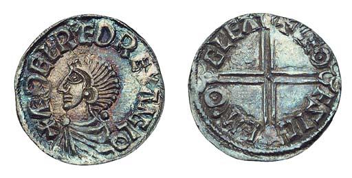 Aethelred II, Penny, Long Cros