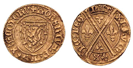 Robert III, Demy-lion, 1.96g.,