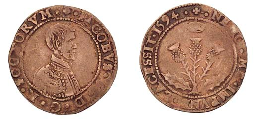 James VI, Five shillings, seve