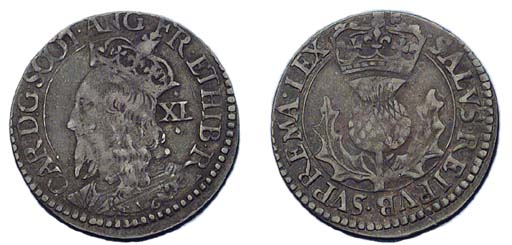 Charles I, Forty pence, third