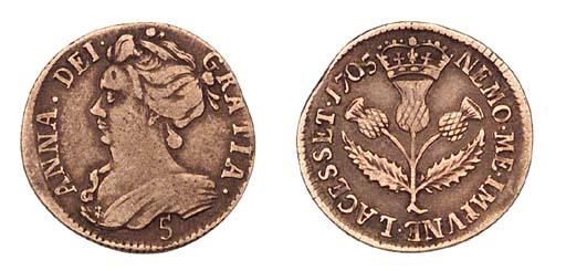 Anne (1702-14), Five-shillings