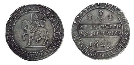 Charles I, Oxford mint, Crown,