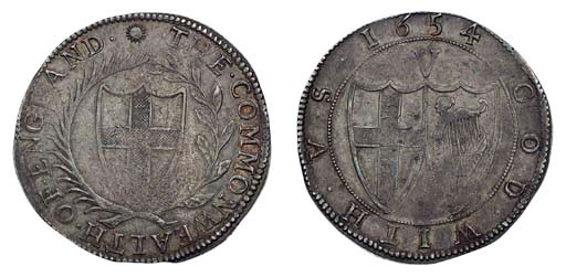 Commonwealth, Crown, 1654, m.m