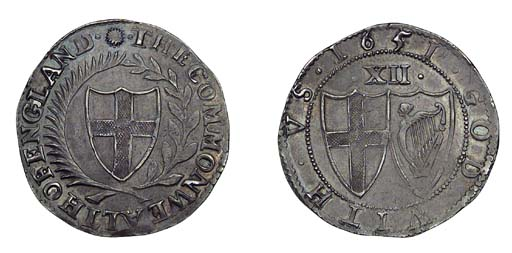 Commonwealth, Shilling, 1651/4