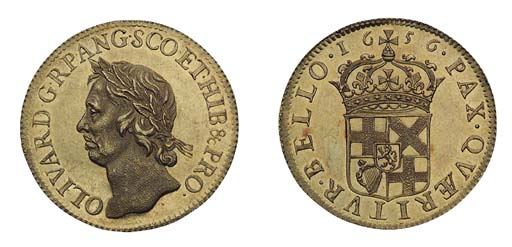 Oliver Cromwell, gold Broad of