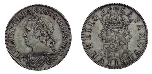Oliver Cromwell, Crown, 1658/7