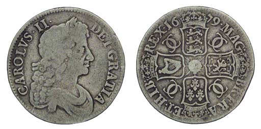 Charles II, Crown, 1679, third