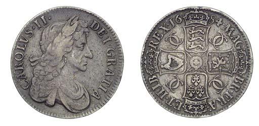 Charles II, Crown, 1684, simil