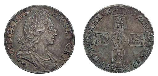 William III , Crown, 1695, fir