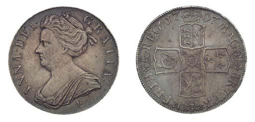Anne, Crown, 1707E, Edinburgh,