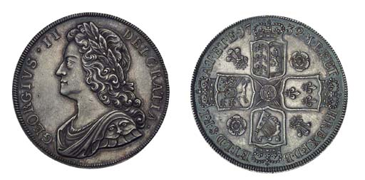 George II, Proof Crown, 1732,