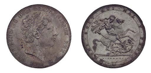 George III,  Crown, 1820 LX, a
