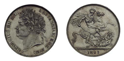 George IV, Crown, 1821 SECUNDO