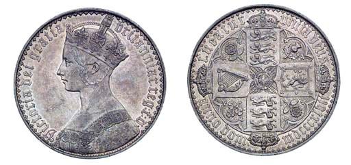 Victoria, Gothic Crown, 1847,
