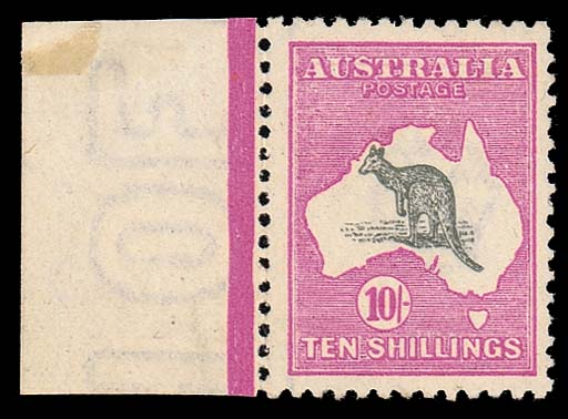 unmounted mint  10/- grey and