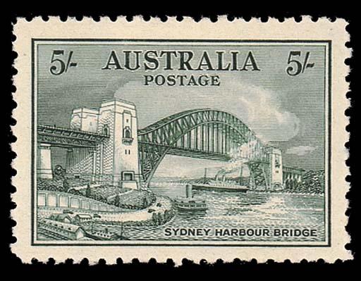XU111932 Bridge 5/- blue-green