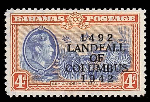 unused  1942 Columbus 4d. ligh