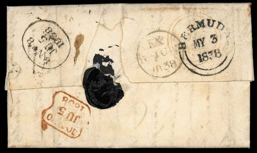 cover 1838 (28 Apr.) entire le