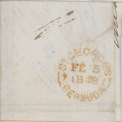 cover 1848 (5 Feb.) entire let