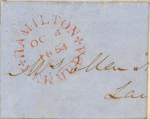 cover 1854 (4 Oct.) entire let