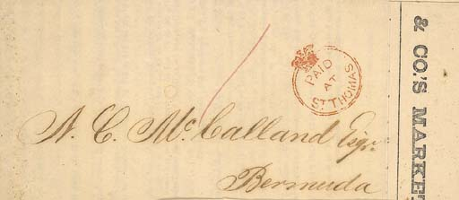 cover 1863 (8 June) printed Pr