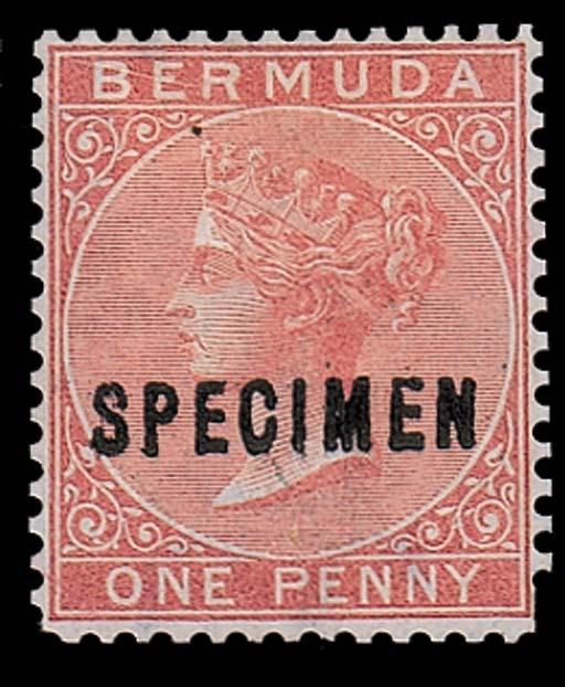 Specimen  1d. rose-red handsta