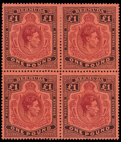 unused Block of Four  £1 pale