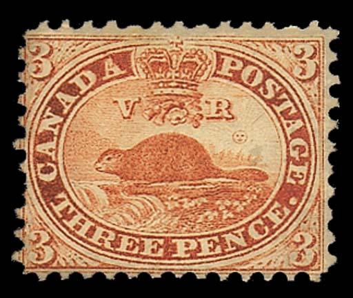 unused  1859 perf. 11¾ 3d. red