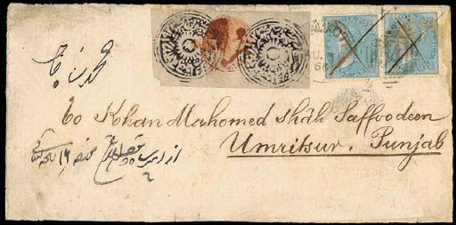 cover 1866 (28 Aug.) envelope