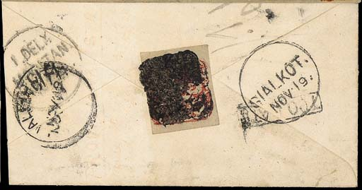 cover 1877 (18 Nov.) India ½a.