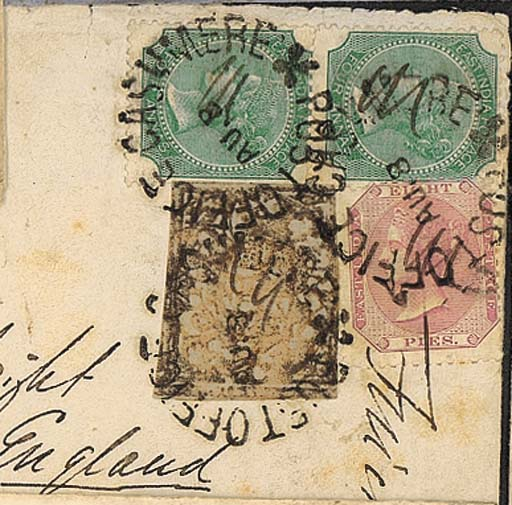 cover 1869 (8 Aug.) envelope t