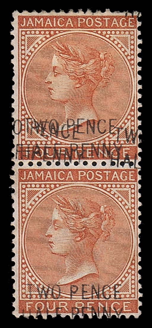 unused  1890-91 2½d. on 4d. ve