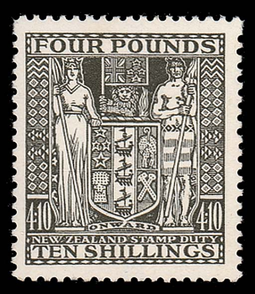 unmounted mint  -- £4.10s. deep olive-grey, fresh and fine unmounted mint. Very scarce. S.G. F167, £1000. Photo