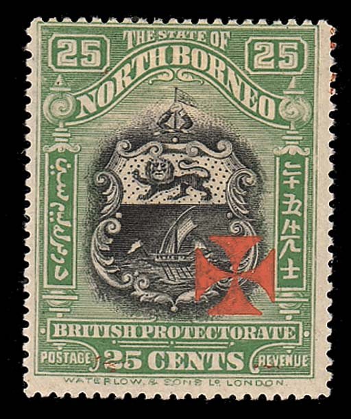 unused  25c. black and green,