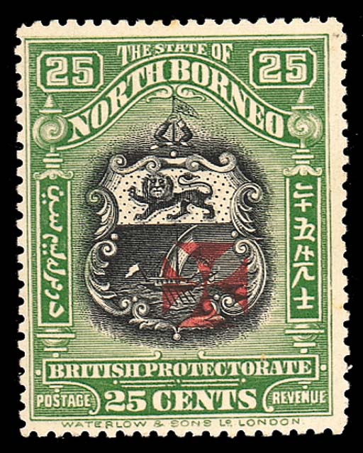 unused  25c. black and green,