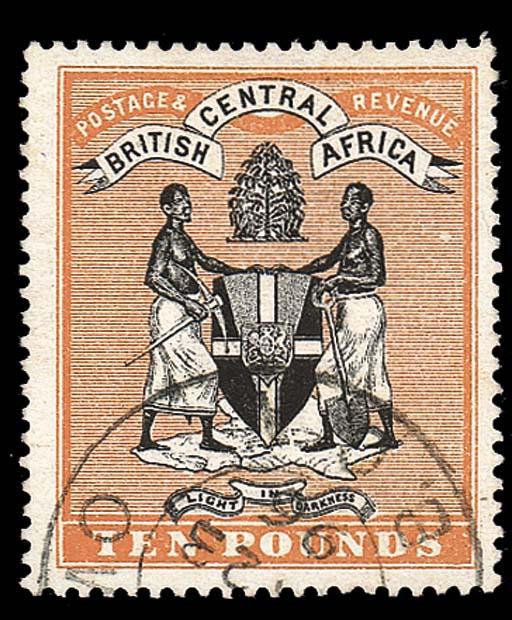 used  1895 no wmk. £10 black a
