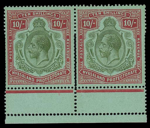 unused  1913-19 MCA 10/- pale